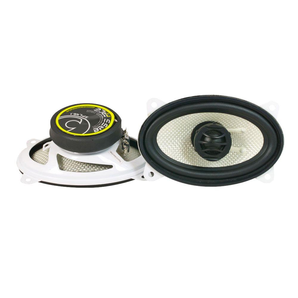 """Bassface SPL46.1 300w 4x6"""" Inch 10x15cm Coaxial 2Way Car Door Dash Speakers Pair"""