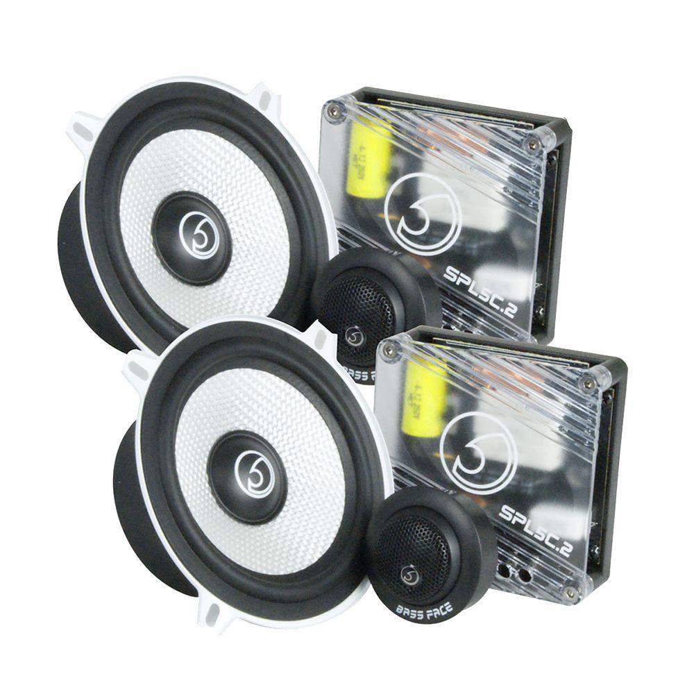 """Bassface SPL5C.2 700w 5.25"""" Inch 13cm Car Door Component Speaker & Tweeter Kit"""