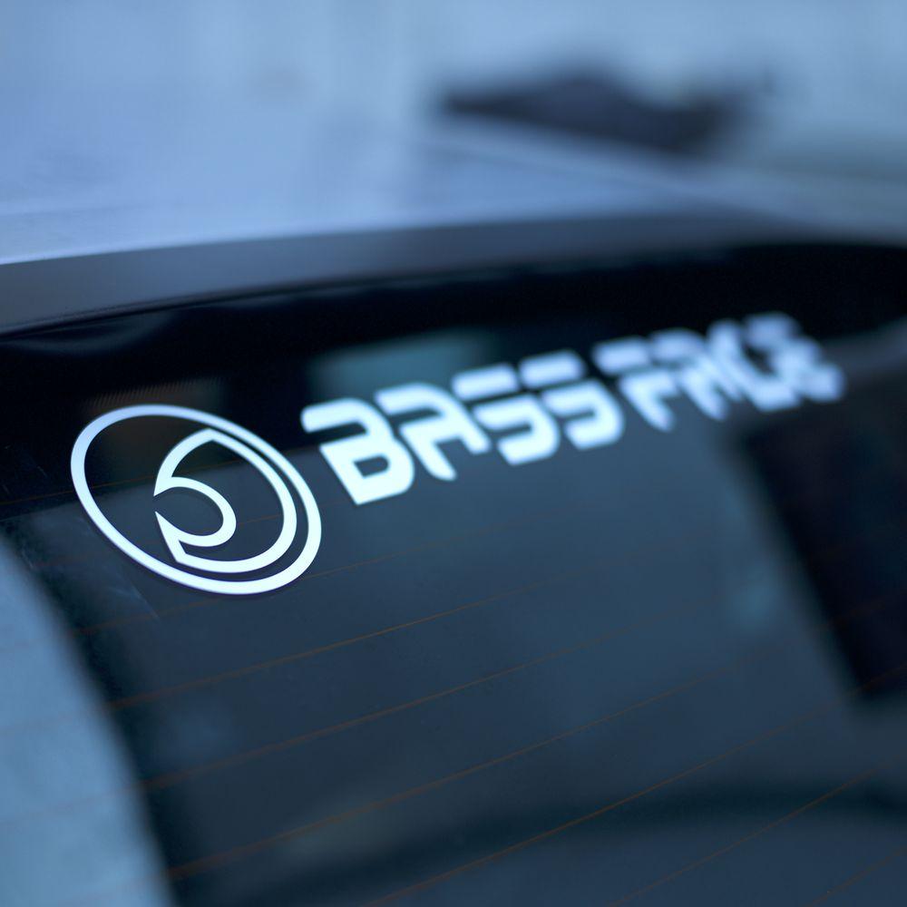 "Bassface BFS.1 Large Rear Car Window Sticker Decal Vinyl 24"" Inch 60cm"
