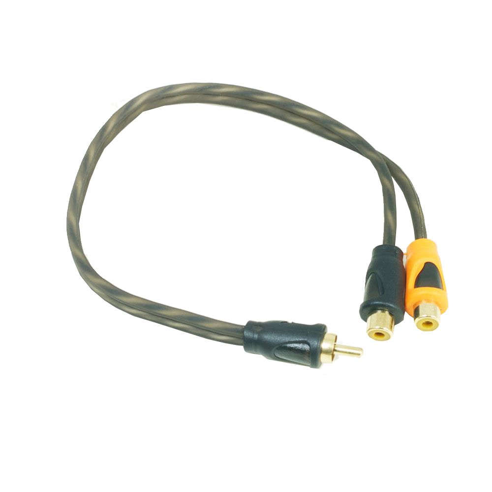 Bassface PRCYM.1 Pure OFC Twist RCA Phono Audio Cable Y Lead Splitter 2F 1M