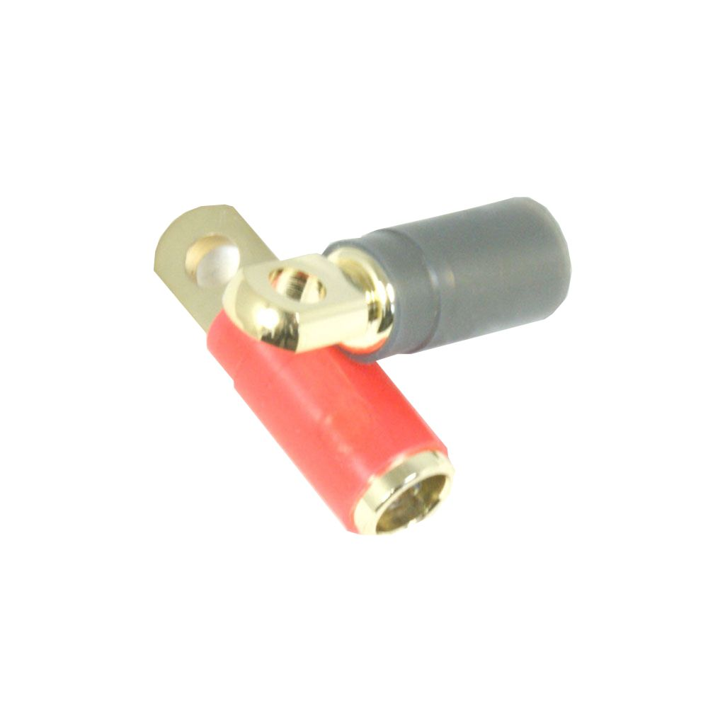 Bassface PRT4.1 Quality 12v Car Audio Gold Plated 0AWG 35mm Ring Terminals Pair
