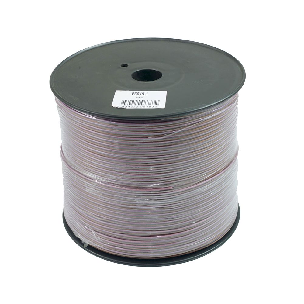 Bassface PSC18.1 300m Roll 18AWG .82mm 15% CCA Speaker Cable Wire 70 Strand