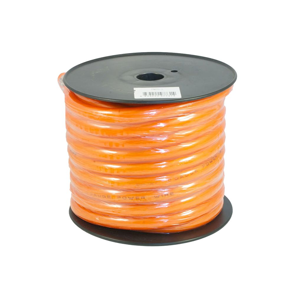 Bassface PWP0.1 CCA 0AWG 53mm Orange Power Wire Cable Spool 15m 4704 Strand