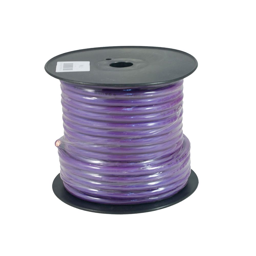 Bassface PWP4.2 OFC 4AWG 21mm Purple Power Wire Cable Spool 30m 1862 Strand