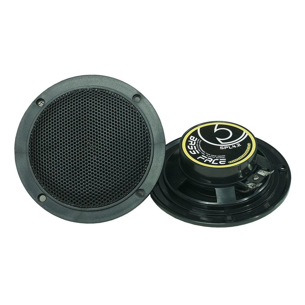 "Bassface SPL4.2B 200w 4"" Inch 10cm Waterproof Marine Boat Speaker Pair Black"