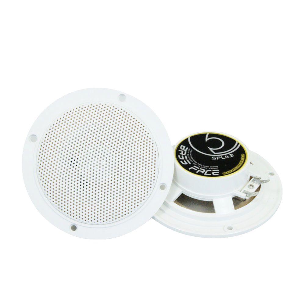 """Bassface SPL4.2 200w 4"""" Inch 10cm Waterproof Wall Ceiling Marine Speaker Pair"""