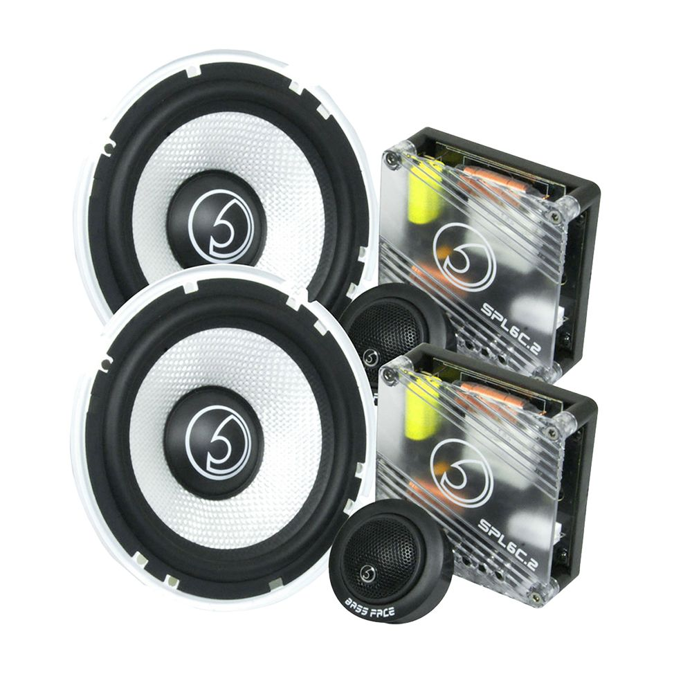 "Bassface SPL6C.2 900w 6.5"" Inch 16.5cm Car Door Component Speaker & Tweeter Kit"
