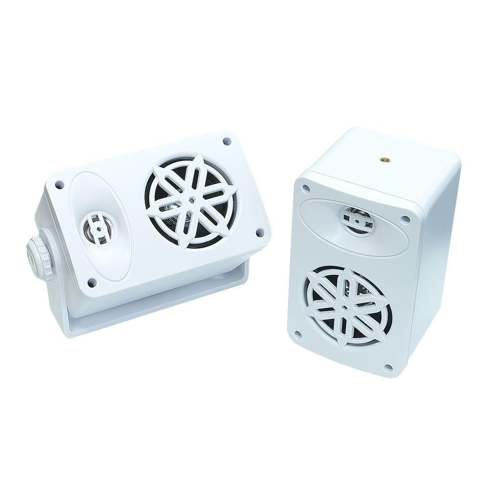 Bassface SPLBOX.4WT 200w Marine Boat Van Outdoor Box Speakers Pair White