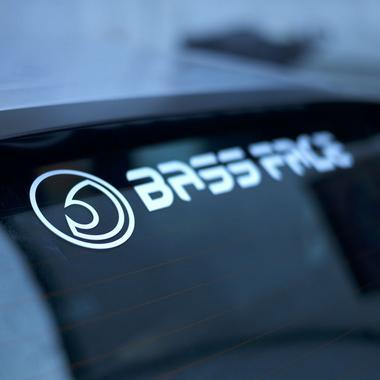 "Bassface BFS.1 Large Rear Car Window Sticker Decal Vinyl 24"" Inch 60cm Thumbnail 1"