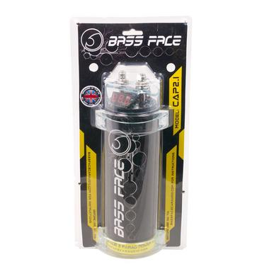 Bassface CAP2.1 2 Farad Car Audio Power Cap Capacitor Amp Digital Display 12v Thumbnail 1