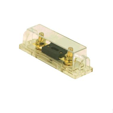 Bassface PFH.2 Stud Terminal Gold Plated Car Audio Fuseholder With 250A ANL Fuse Thumbnail 1