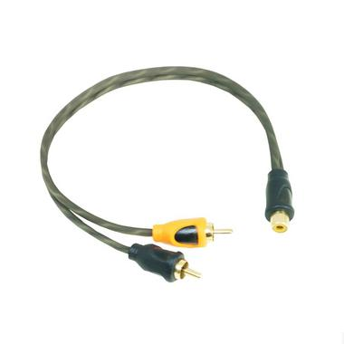 Bassface PRCYF.1 Pure OFC Twist RCA Phono Audio Cable Y Lead Splitter 1F 2M Thumbnail 1