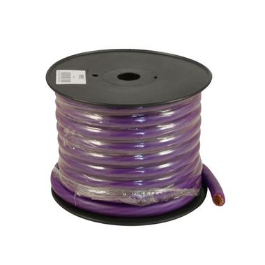 Bassface PWP0.2 OFC 0AWG 53mm Purple Power Wire Cable Spool 15m 5250 Strand Thumbnail 1