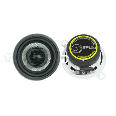 "Bassface SPL3.1 200w 3.5"" Inch 8cm Coaxial 2Way Car Door Dashboard Speakers Pair Thumbnail 1"