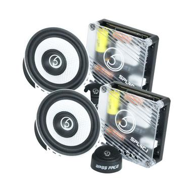 "Bassface SPL4C.1 600w 4"" Inch 10cm Car Door Dash Component Speaker & Tweeter Kit Thumbnail 1"