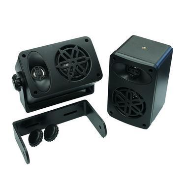 Bassface SPLBOX.4BK 200w Marine Boat Van Outdoor Box Speakers Pair Black Thumbnail 4