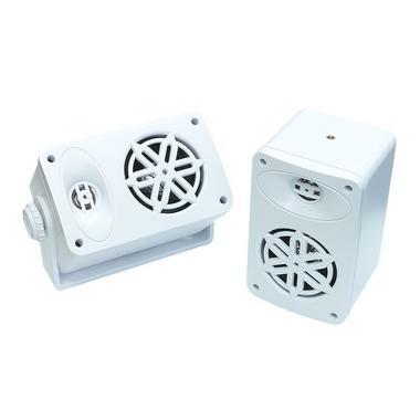 Bassface SPLBOX.4WT 200w Marine Boat Van Outdoor Box Speakers Pair White Thumbnail 1