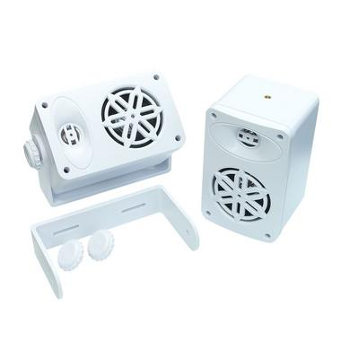 Bassface SPLBOX.4WT 200w Marine Boat Van Outdoor Box Speakers Pair White Thumbnail 4