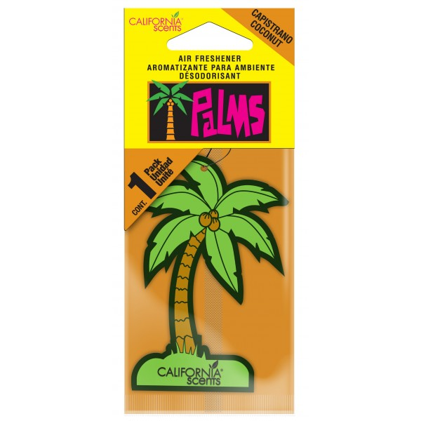 California Scents Palms Air Freshener Capistrano Coconut