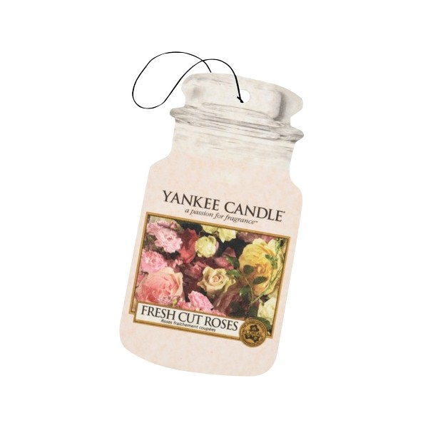 Yankee Candle Classic Car Jar Air Freshener Fresh Cut Roses