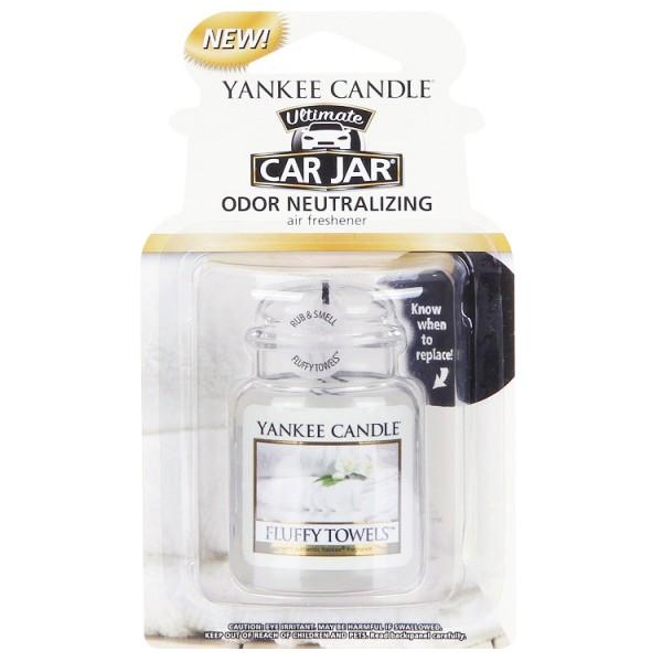 Yankee Candle Ultimate Car Jar Air Freshener Fluffy Towels