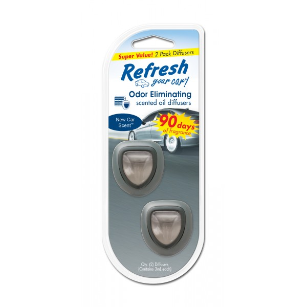 Refresh 2pk Mini Diffuser New Car