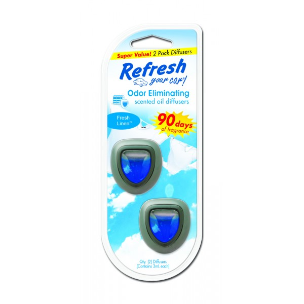 Refresh 2pk Mini Diffuser Fresh Linen