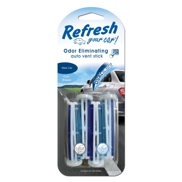 Refresh Dual Scent Vent Stick New Car