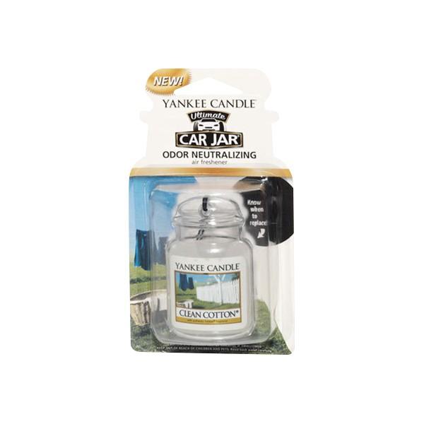 Yankee Candle Car Office Home Long Lasting Car Jar Air Freshener Clean Cotton