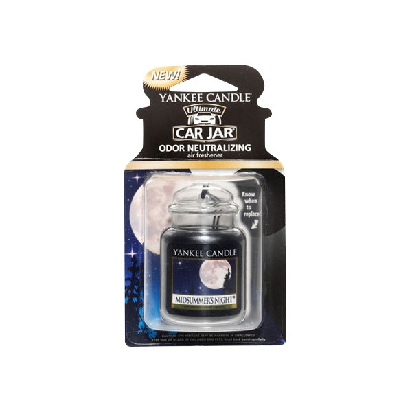 Yankee Candle Car Office Home Long Lasting Car Jar Air Freshener Midsummers Night