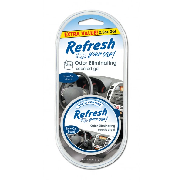 Refresh 2.5oz Gel New Car Scent Thumbnail 1