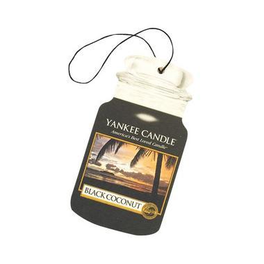 Yankee Candle Classic Car Jar Air Freshener Black Coconut Thumbnail 1