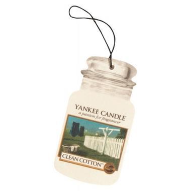 Yankee Candle Classic Car Jar Air Freshener Clean Cotton Thumbnail 1
