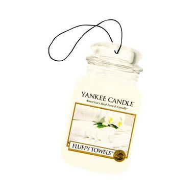 Yankee Candle Classic Car Jar Air Freshener Fluffy Towels Thumbnail 1