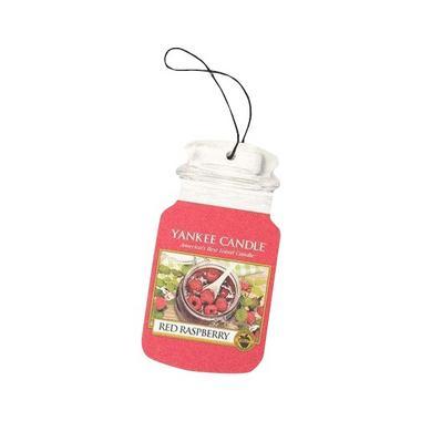 Yankee Candle Classic Car Jar Air Freshener Red Raspberry Thumbnail 1