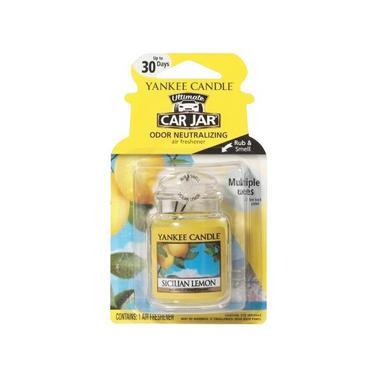 Yankee Candle Ultimate Car Jar Air Freshener Sicilian Lemon Thumbnail 1