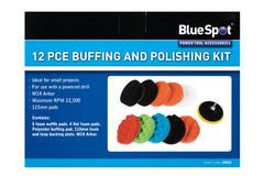 Bluespot 19035 12 Piece Car Cleaning Detailing Polishing Buffing Pads & Adaptor