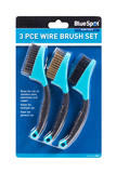 Bluespot 22505 3 Piece Automobile Multi Use Wire Brush Detailing Set