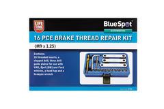Brake Thread Repair 16 Piece M9 1.25 Automotive Bluespot Garage Set