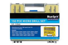 Micro Drills 0.4 -1.6mm Automotive Garage 150 Piece Bluespot Set