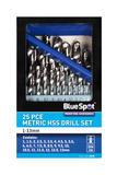Metric HSS Drills 1-13mm Automotive Garage 25 Piece Bluespot Set