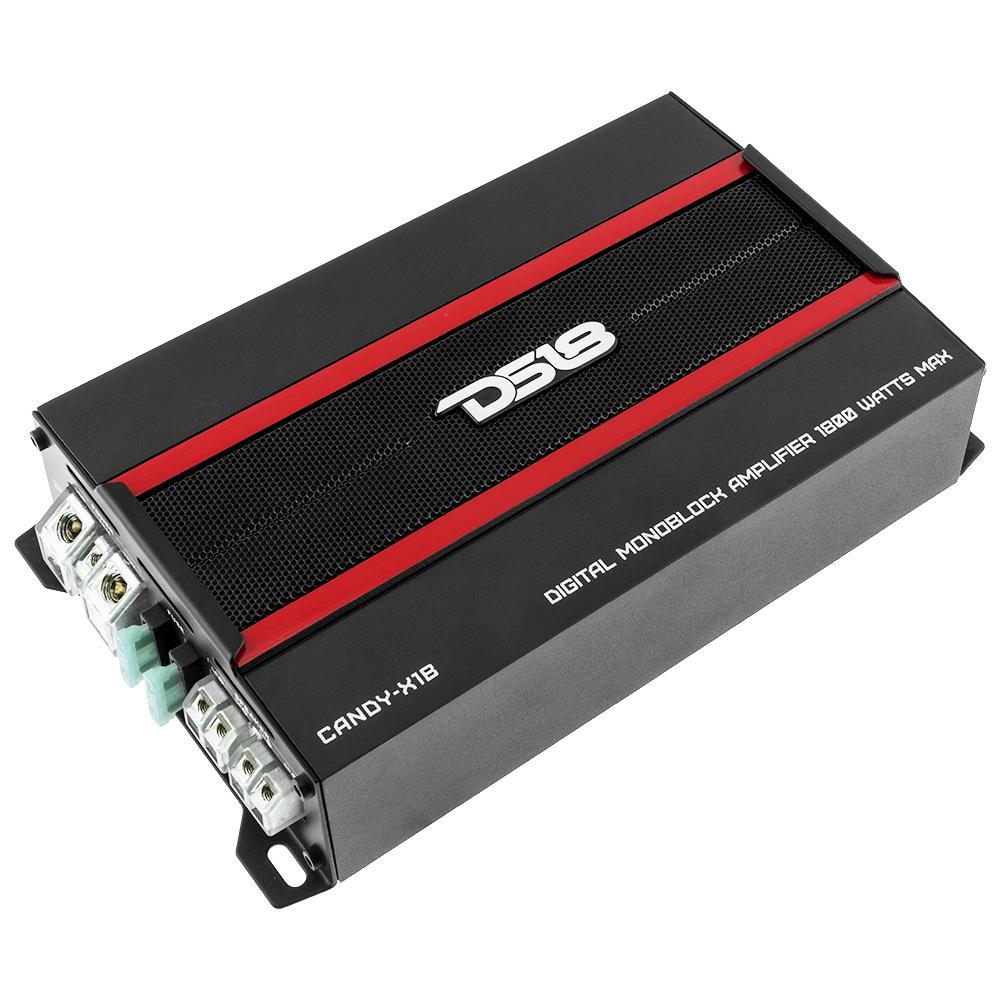 DS18 CANDY-X1B In Car Audio 1 Channel Monoblock 1800 Watt Class D Amp Amplifier