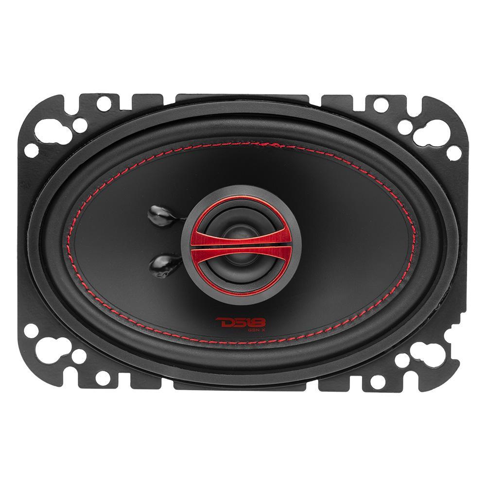 """DS18 GEN-X4.6 In Car Audio 4x6"""" Inch 4 Ohm 2 Way Coaxial 135 Watt Speakers"""