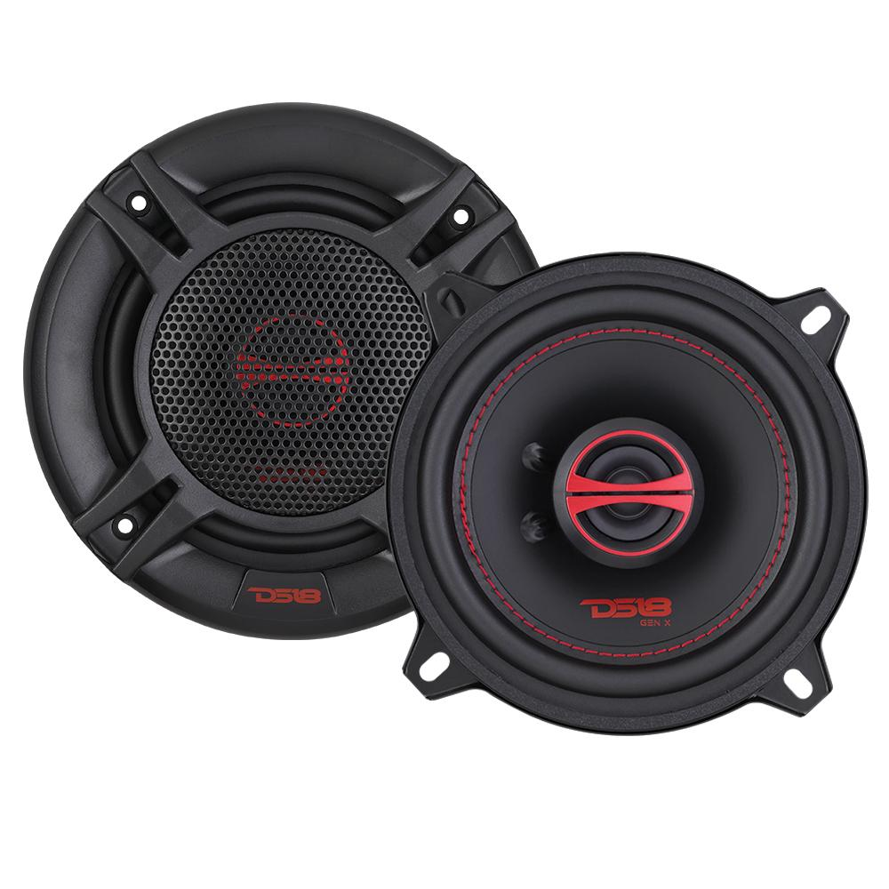 "DS18 GEN-X5.25 In Car Audio 5.25"" Inch 4 Ohm 2 Way Coaxial 135 Watt Speakers"