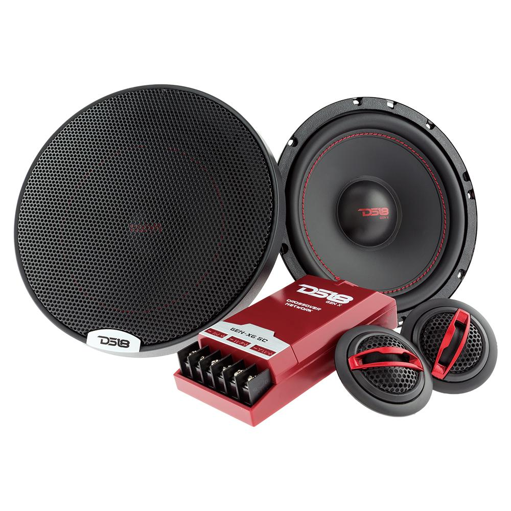 "DS18 GEN-X6.5C In Car Audio 6.5"" Inch 4 Ohm 3 Way Component 150 Watt Speakers"