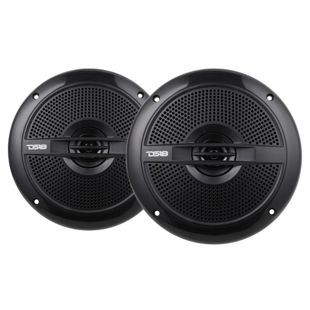 "DS18 HYDRO-65BK Marine Audio 6.5"" Inch 380 Watts Water Resistant Speakers"