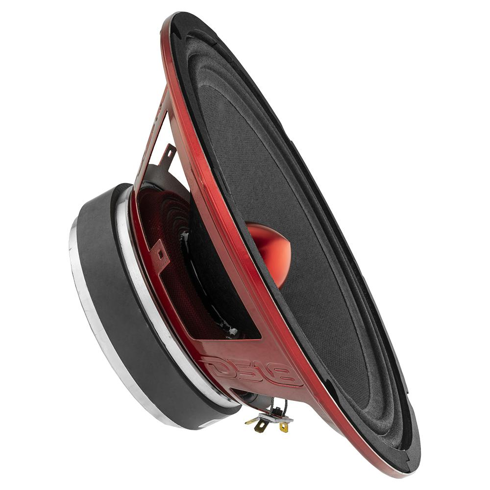 """DS18 PRO-X10BM In Car Audio Mid Range Bass 10"""" Inch 600 Watt 8 Ohm Speaker"""