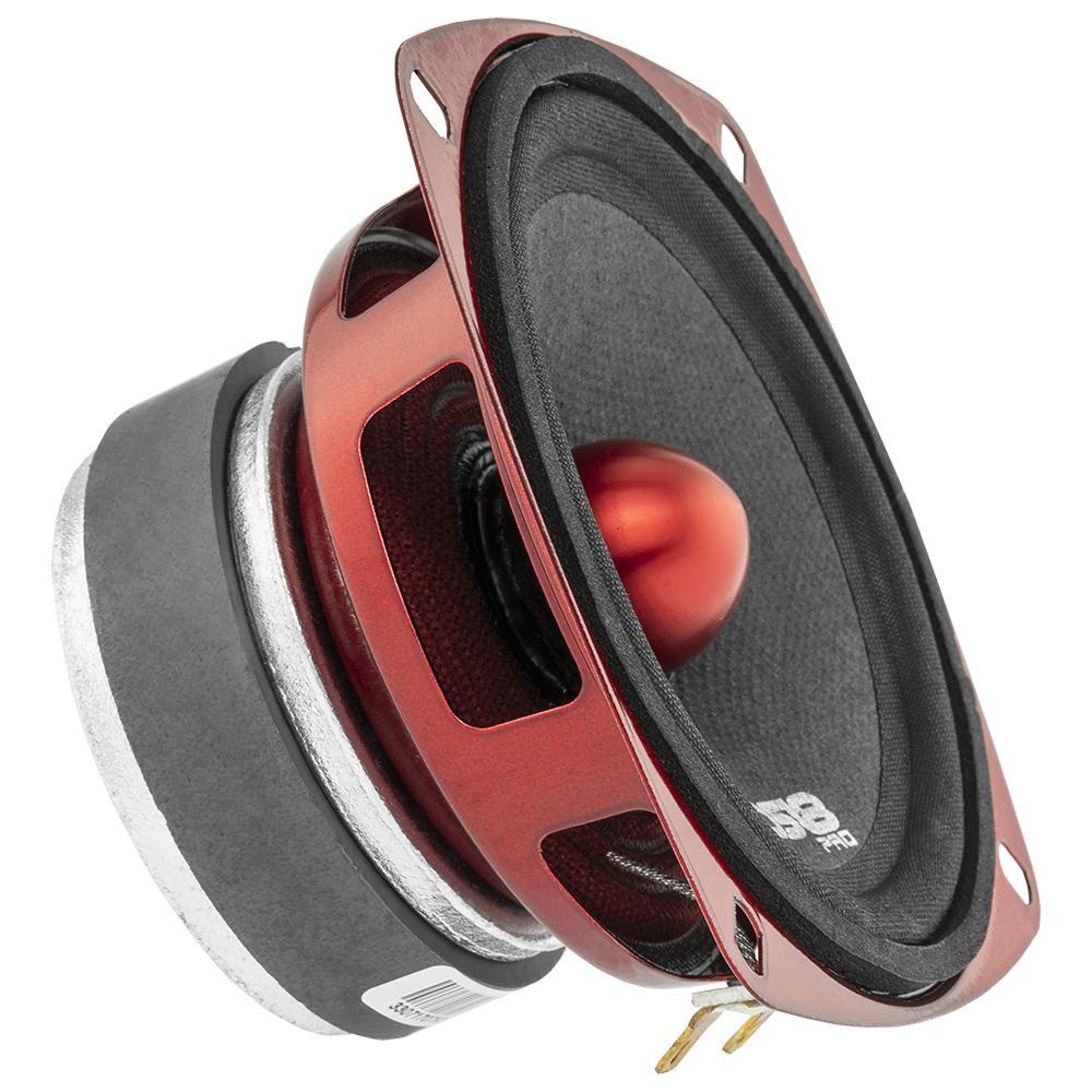 """DS18 PRO-X4.4BM In Car Audio Mid Range Bass 4"""" Inch 200 Watt 4 Ohm Speaker"""