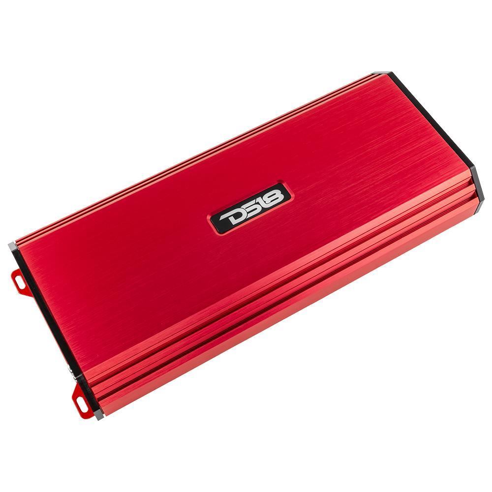 DS18 S-1500.1/RD Car Audio 1 Channel Monoblock 1500 Watt Class AB Amp Amplifier