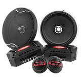 "DS18 EXL-SQ6.5C In Car Audio 6.5"" 2 Way Component 400 Watt 4 Ohm Speakers"